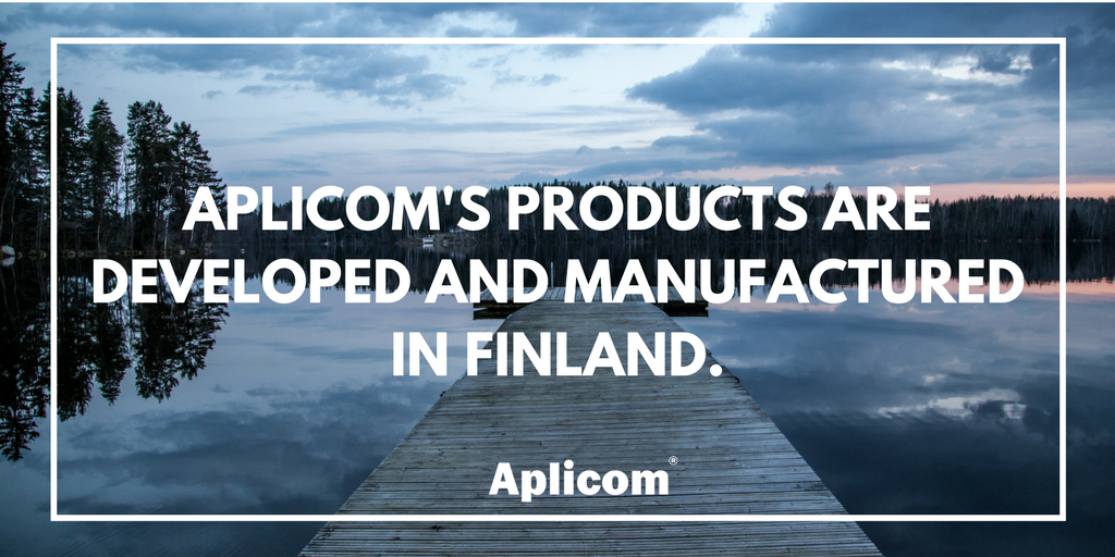 Aplicom's products are developed and manufactured in Finland